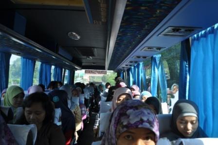 Perjalanan berangkat ke Panti Tresna Werdha